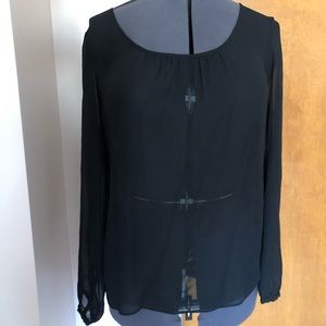 Tops - Sheer Black Mossimo Shirt